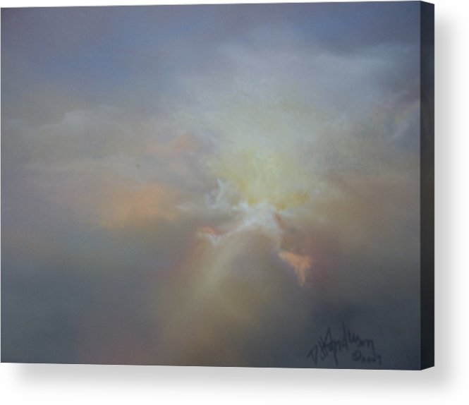 Skyscape Acrylic Print featuring the painting Spoken Softly by Debbie Anderson