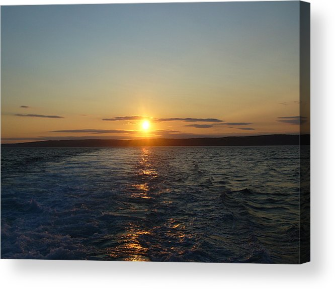 Sunset Acrylic Print featuring the photograph Sunset On The Horizon 2 by Sharon Stacey