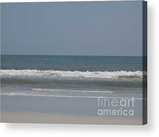 The Beach Near St. Augustine Acrylic Print featuring the photograph Watching The Waves by Barb Montanye Meseroll
