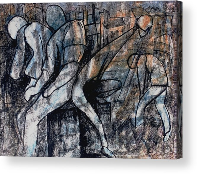 Art Acrylic Print featuring the drawing Post-modern Haste by Mushtaq Bhat