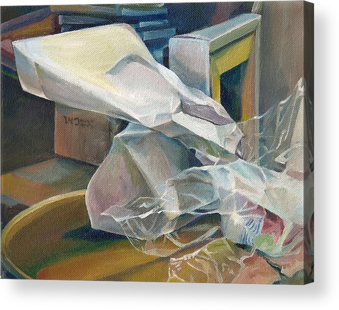 Still Life Acrylic Print featuring the painting Still Life No.3 by Julie Orsini Shakher
