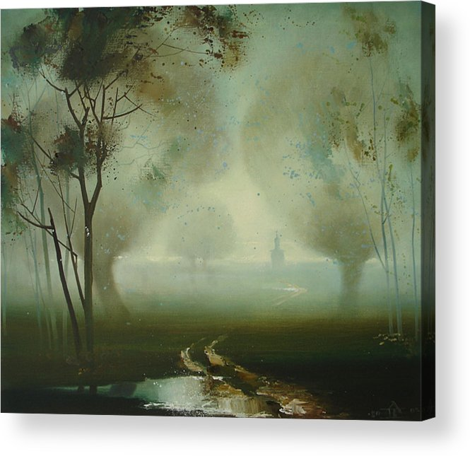 Landscape Acrylic Print featuring the painting Road by Andrej Vystropov