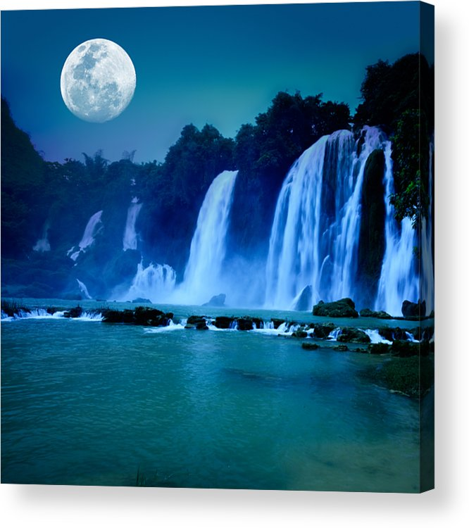 Forest Acrylic Print featuring the photograph Waterfall by MotHaiBaPhoto Prints