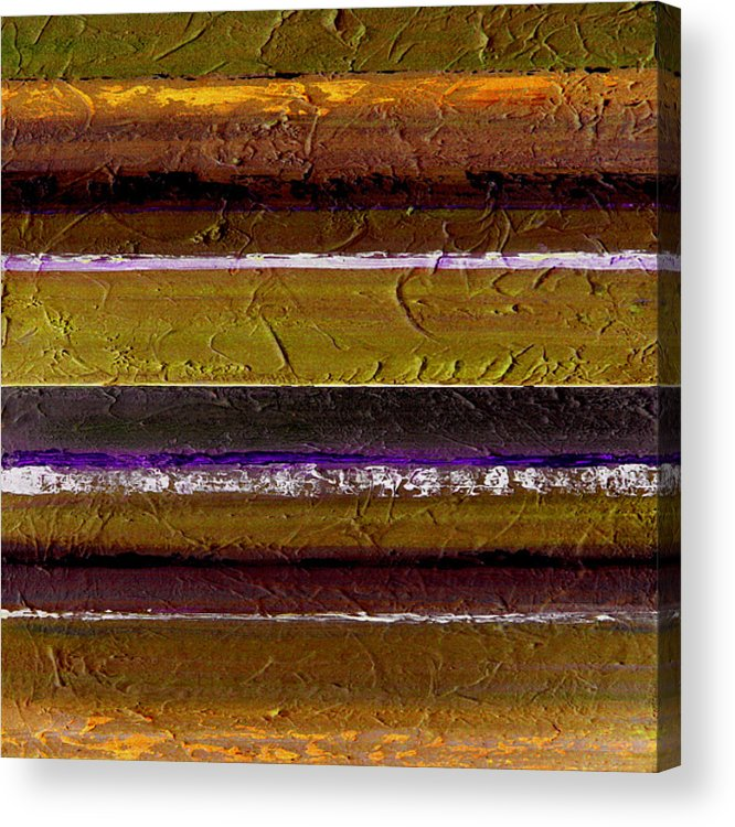 Abstract Acrylic Print featuring the painting Lined Up by Ruth Palmer