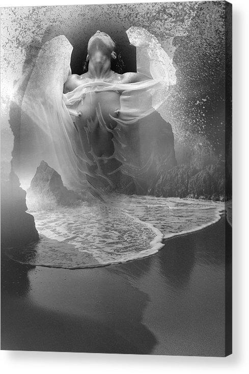 Seascape Acrylic Print featuring the photograph Sea Burst by Bob Bennett