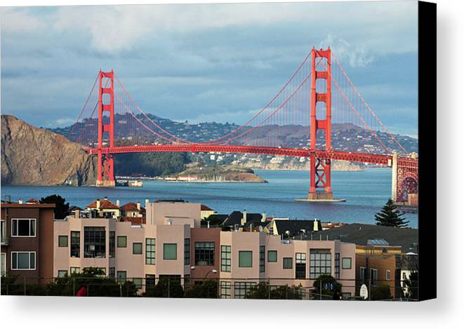 Horizontal Canvas Print featuring the photograph Golden Gate by Stickney Design