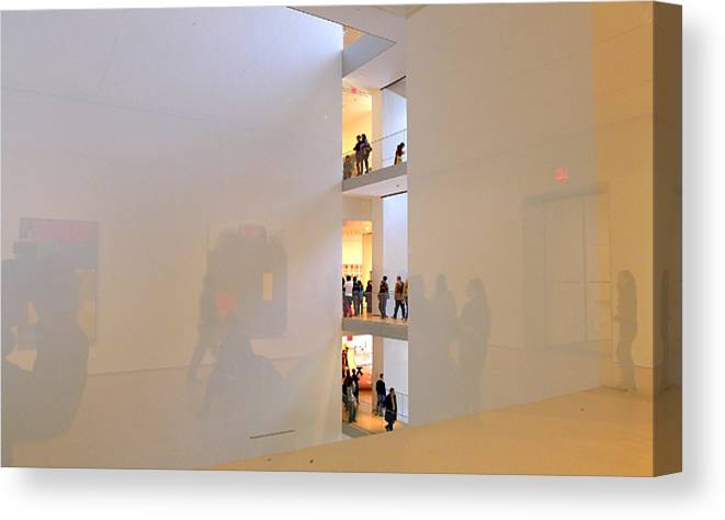 Moma Canvas Print featuring the photograph Reflections In Moma by Frank Winters