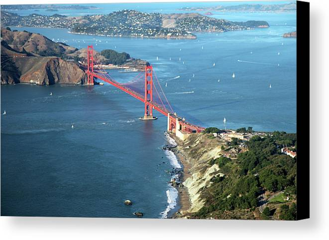 Horizontal Canvas Print featuring the photograph Golden Gate Bridge by Stickney Design