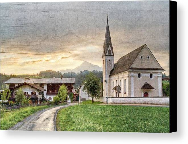 Appalachia Canvas Print featuring the photograph Country Church by Debra and Dave Vanderlaan