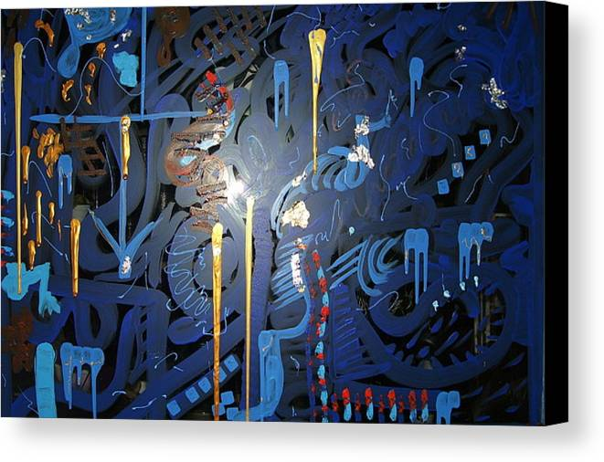 Art Canvas Print featuring the painting Art Fusing 2 by Svetlana Vinokurtsev