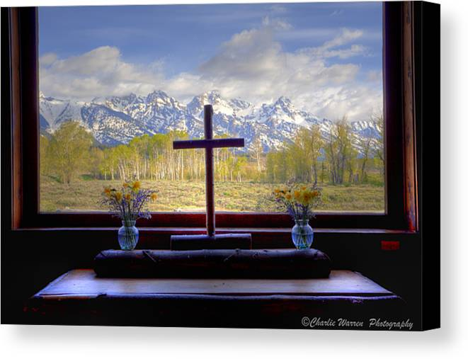 Chapel Canvas Print featuring the photograph Chapel With A View by Charles Warren