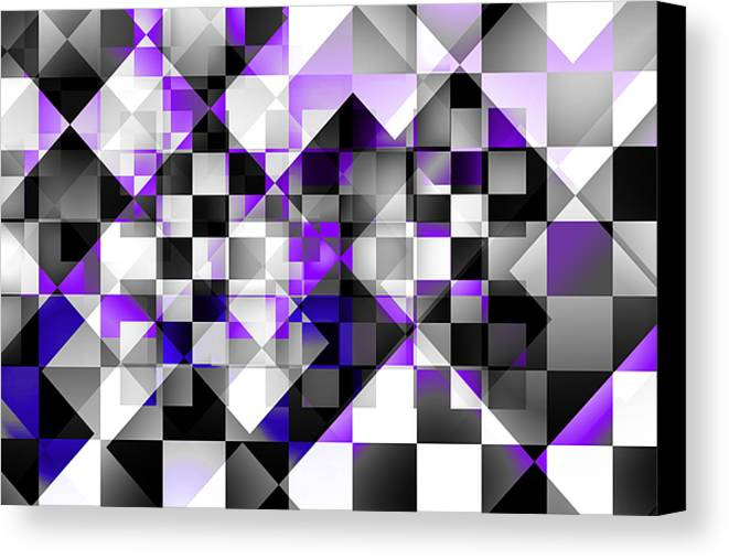 Abstract Canvas Print featuring the digital art Indigo Facets by Gae Helton