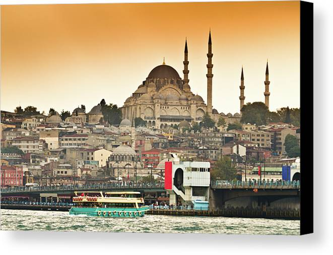 Horizontal Canvas Print featuring the photograph View Of Istanbul by (C) Thanachai Wachiraworakam