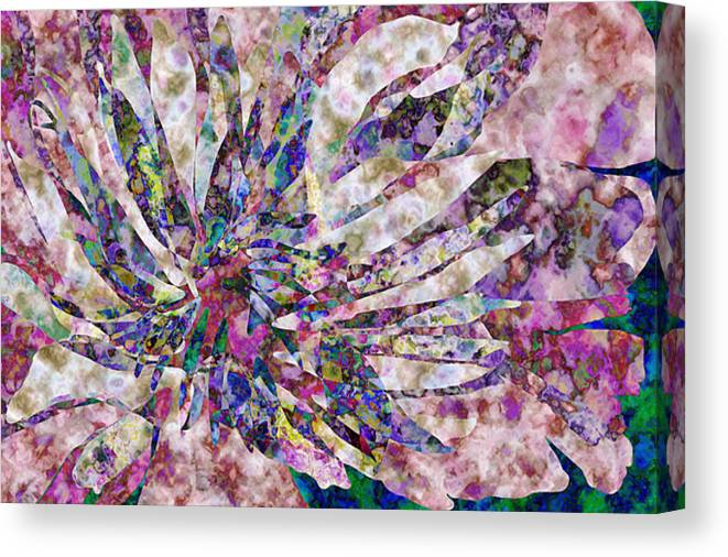 Flower Canvas Print featuring the digital art Peony Burst by Gae Helton