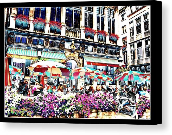 Brussels Canvas Print featuring the photograph Sunny Day On The Grand Place by Carol Groenen
