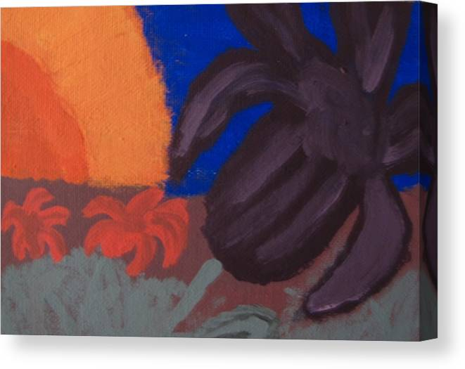 Lilly Canvas Print featuring the painting Lillies In The Sunset by Melissa Parks