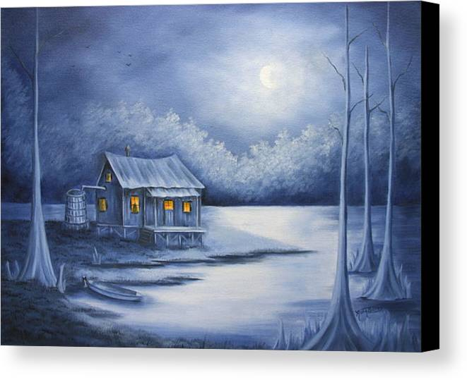 Seascape Canvas Print featuring the painting Cajun Christmas by Ruth Bares