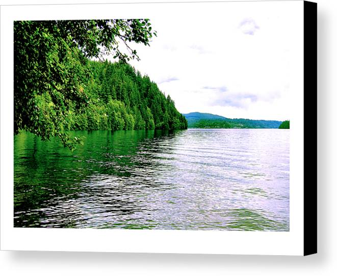 Lake Canvas Print featuring the photograph Green Lake by J D Banks