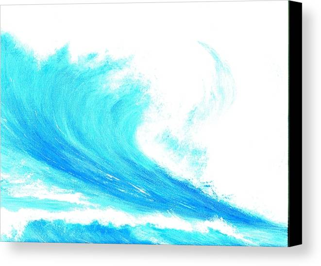 Surf Canvas Print featuring the painting In My Dreams by Laura Johnson