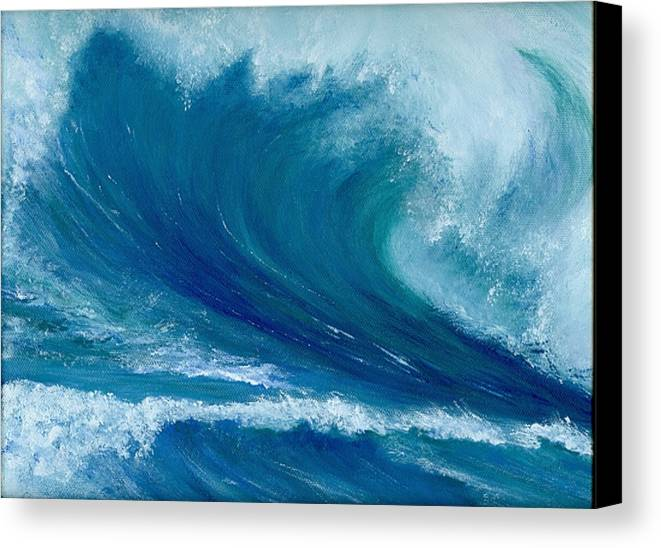 Wave Canvas Print featuring the painting Winter Wave by Laura Johnson