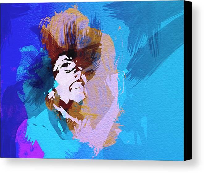 Bob Marley Canvas Print featuring the painting Bob Marley 3 by Naxart Studio