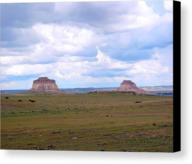 Big Sky Canvas Print featuring the photograph Pawnee Butte Colorado by Margaret Fortunato