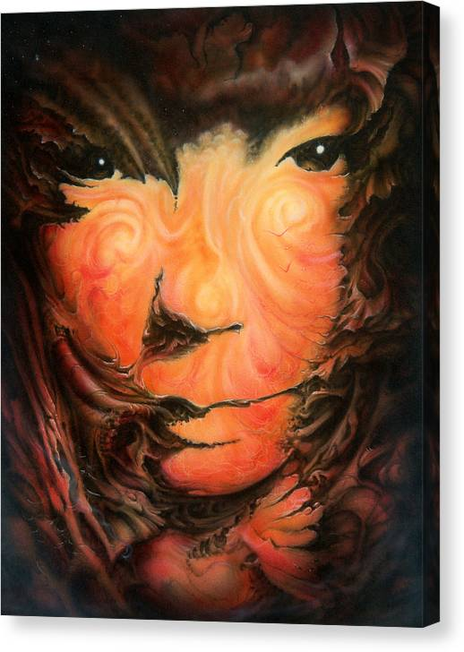 Abstract Canvas Print featuring the painting Pagan Poet by Victor Whitmill
