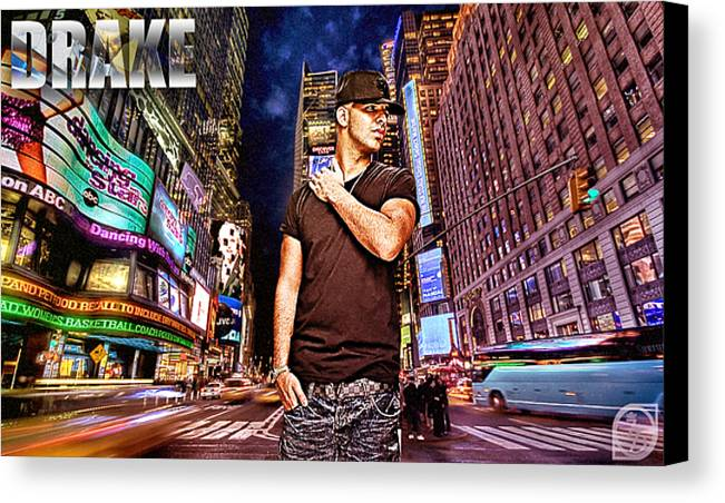 Drake Canvas Print featuring the digital art Street Phenomenon Drake by The DigArtisT