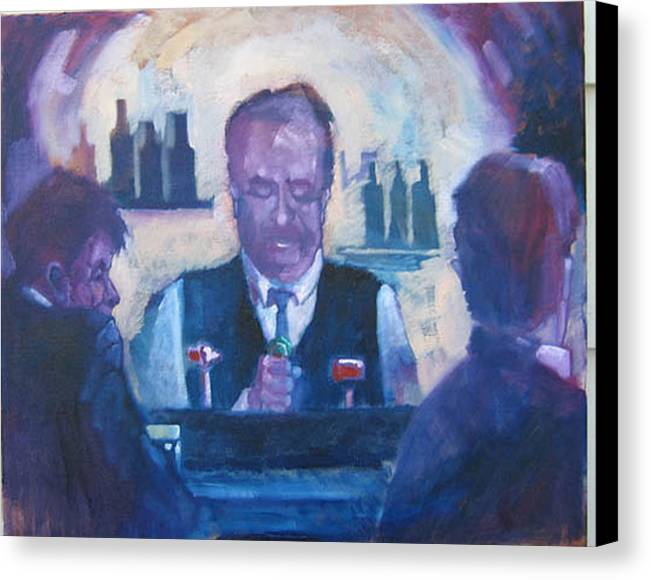 Figure Canvas Print featuring the painting The Bartender by Kevin McKrell