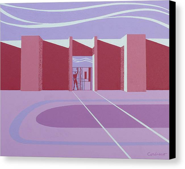 Architectural Canvas Print featuring the painting Architectural Le Modulor by James Cordasco