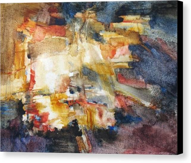 Abstract Canvas Print featuring the painting Illumination by Juanita Hagberg