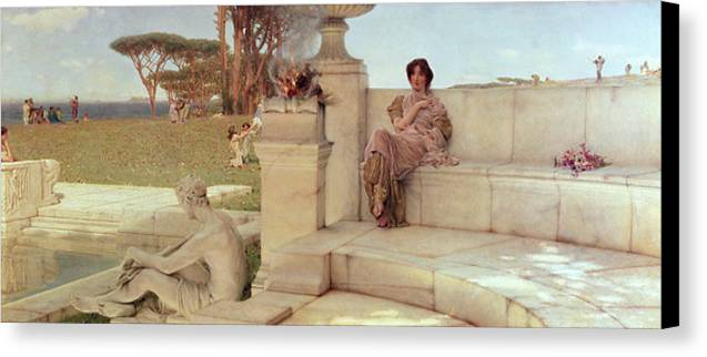 The Canvas Print featuring the painting The Voice Of Spring by Sir Lawrence Alma-Tadema