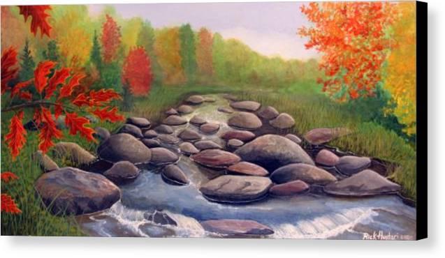 Rick Huotari Canvas Print featuring the painting Cherokee Park by Rick Huotari