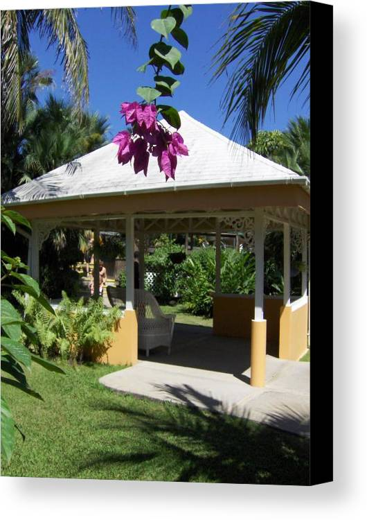 Gazebo Canvas Print featuring the photograph Tranquility by J Andrel