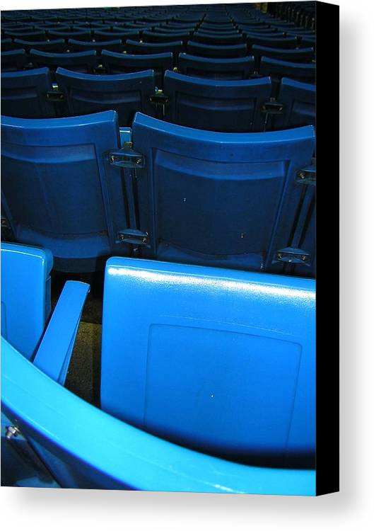 Blue Jays Canvas Print featuring the photograph Blue Jay Seats by Heather Weikel