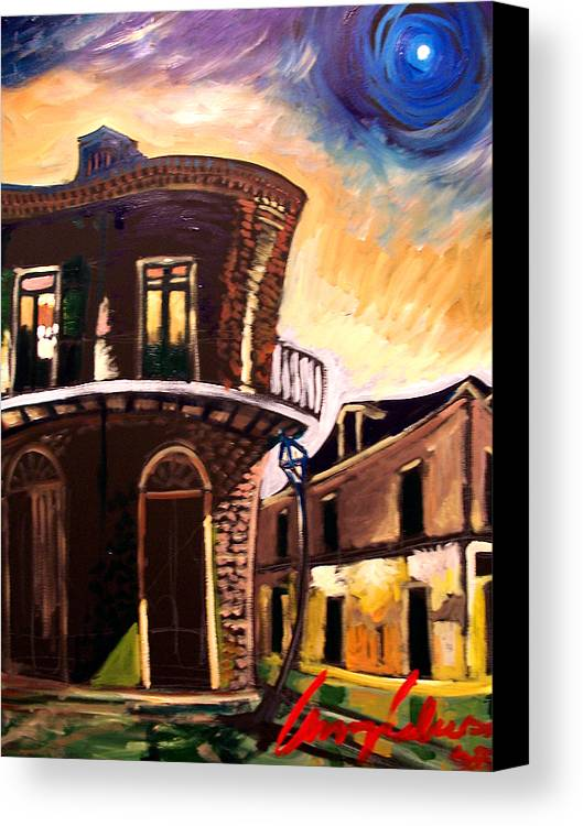 Cityscape Canvas Print featuring the painting Royal St Sunrise 2 by Amzie Adams