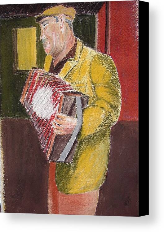 Figure Canvas Print featuring the painting The Entertainer by Joe Lanni