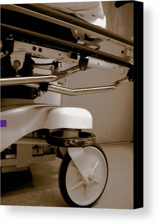 Hospital Canvas Print featuring the photograph Wheel by Heather Weikel