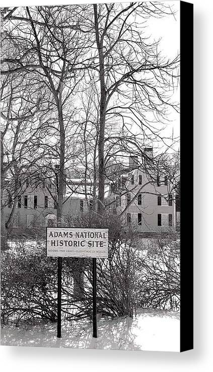 John Quincy Adams Canvas Print featuring the photograph John Quincy Adams House Ll by Heather Weikel