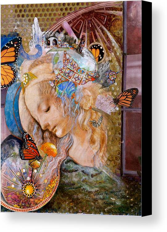 Collage Canvas Print featuring the mixed media Sanctuary by Diane Woods