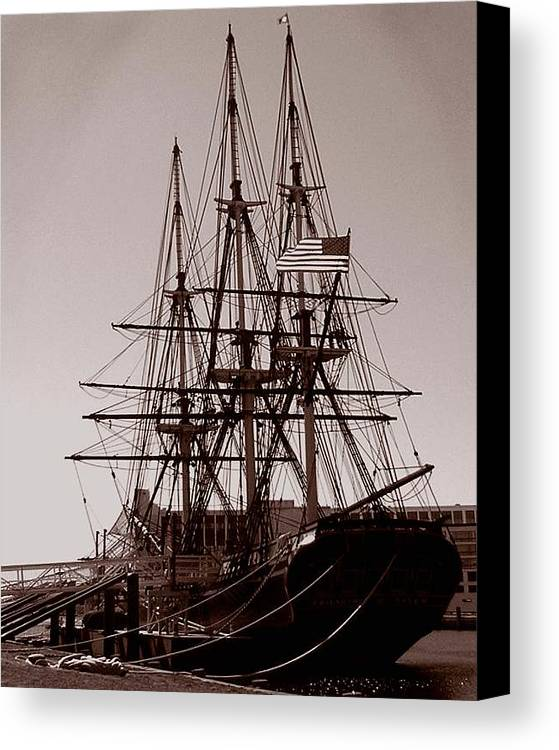 Salem Canvas Print featuring the photograph Friendship Salem by Heather Weikel