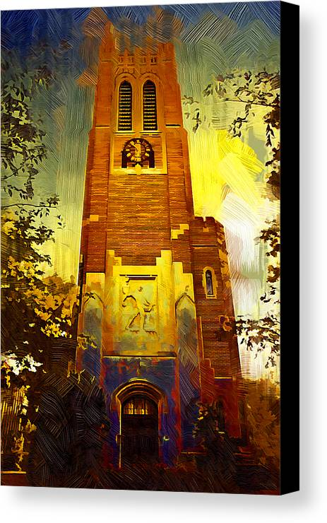 Michigan State University Canvas Print featuring the photograph Beaumont Tower by Paul Bartoszek