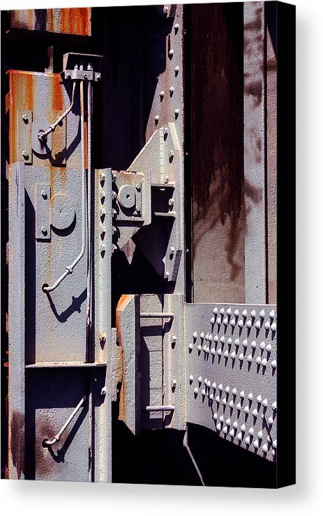 Abstract Canvas Print featuring the photograph Industrial Background by Carlos Caetano