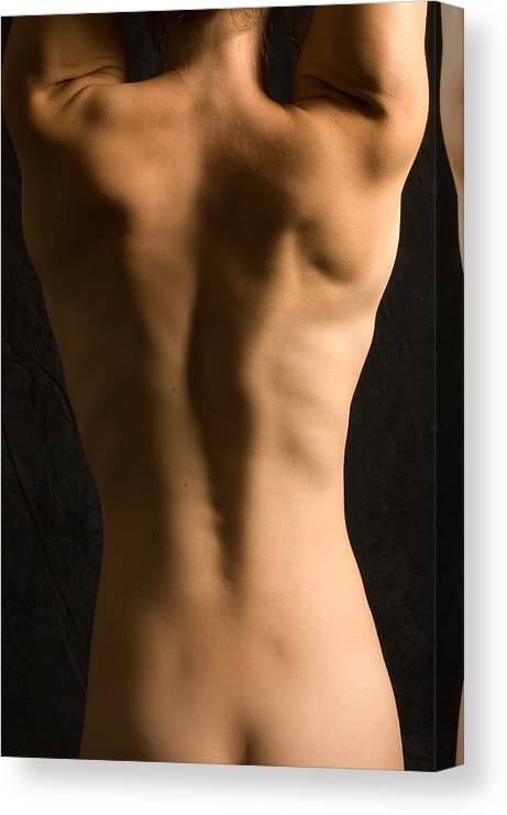 Nude Canvas Print featuring the photograph Bare Back Torso by David Thompson