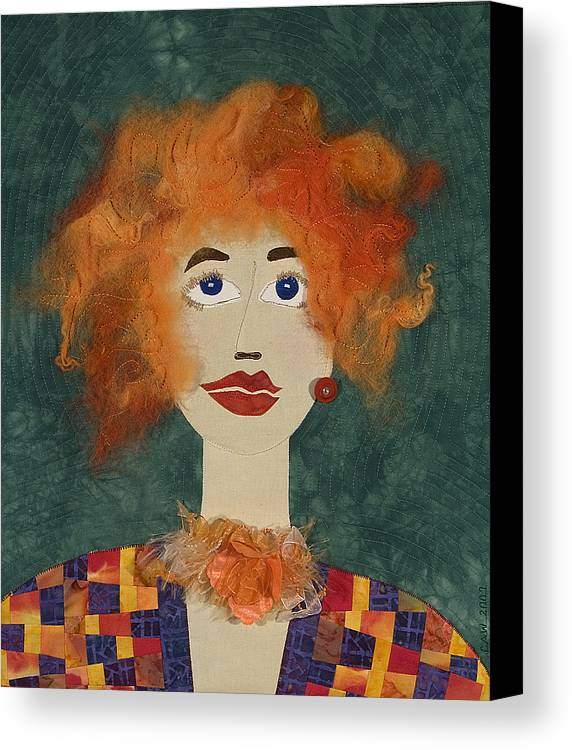 Face Canvas Print featuring the mixed media Blaze by Carol Ann Waugh