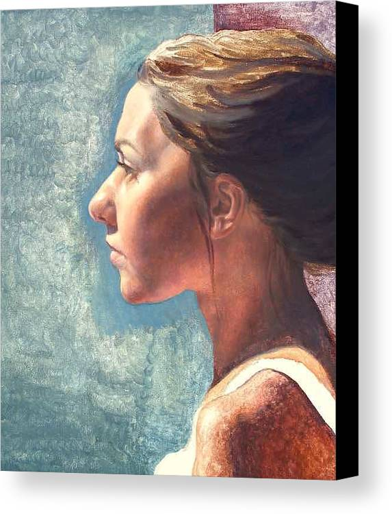 Portrait Canvas Print featuring the painting Fresh Pose by Deborah Allison