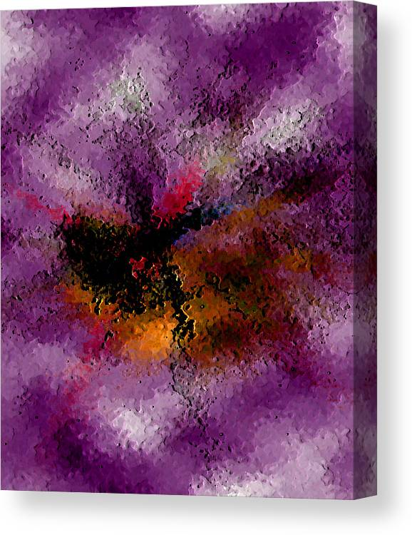 Abstract Canvas Print featuring the digital art Damaged But Not Broken by Ruth Palmer