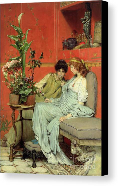 Confidences Canvas Print featuring the painting Confidences by Sir Lawrence Alma-Tadema