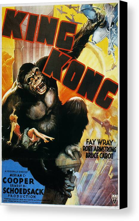 1933 Canvas Print featuring the photograph King Kong Poster, 1933 by Granger