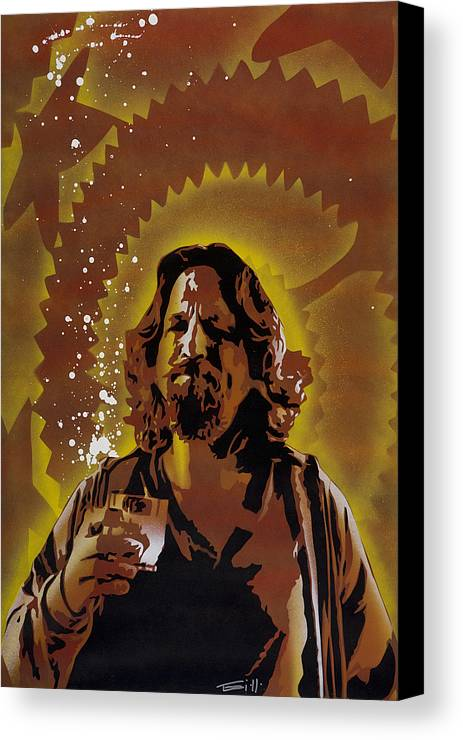 Pop Canvas Print featuring the painting The Dude by Tai Taeoalii